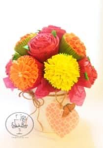 Cupcakes flower pot