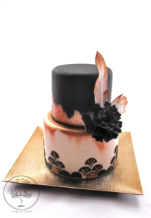 Getsby style wedding cake