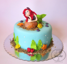 The little mermaid cake