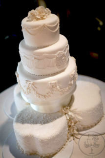 White fairytale wedding cake