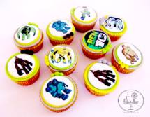 Ben 10 edible prints cupcakes