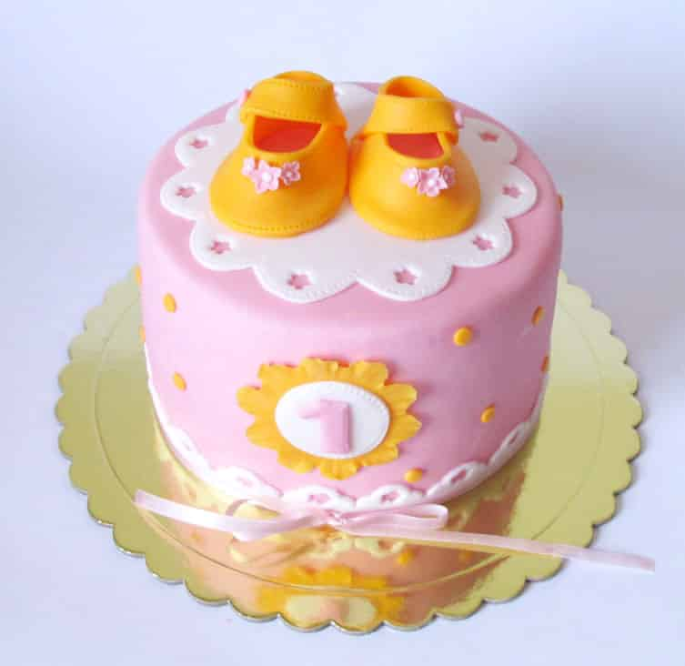First Birthday Cake for Girls