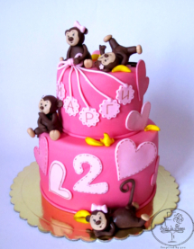 Four little monkeys cake