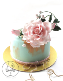 Antique gold, rose cake