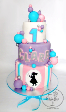 First Birthday Bubble cake