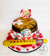 Harley Quinn Marvel 16th Birtday cake