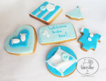 New baby boy cookies