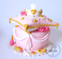 Princess and the pillow cake