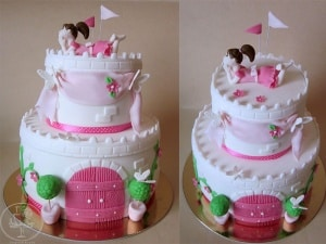 Princess in my castle cake