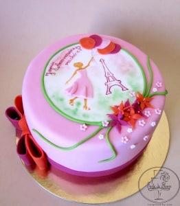 Love Paris 20th Birthday Cake