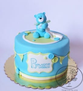 Blue Teddy Cake