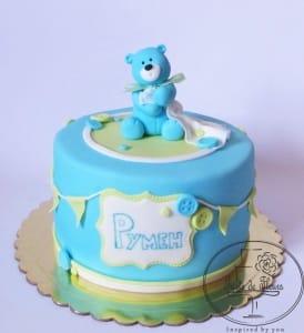 Blue Teddy Cake