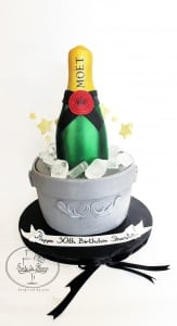 Champagne 30th Birthday cake