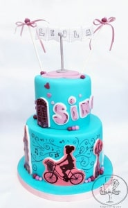 The girl who loves to sing cake