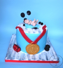 Baby shower 1st place Fit Mum Cake