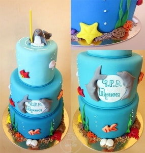 Swell Under The Sea Cake Ideas Tarte De Fleurs Custom Cake Design Funny Birthday Cards Online Overcheapnameinfo