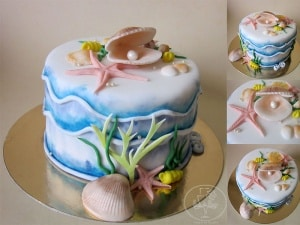 Sea Shell with a Pearl Cake