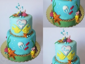 Under the Sea 2nd Birthday Cake