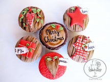 Rustic Christmas Cupcakes