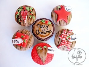 Rustic Christmas Cupcakes