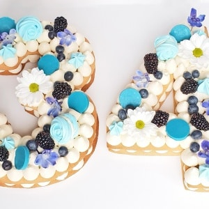 Number/Letter Cookie Cake