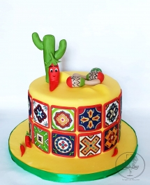 Mexico Themed Party Cake