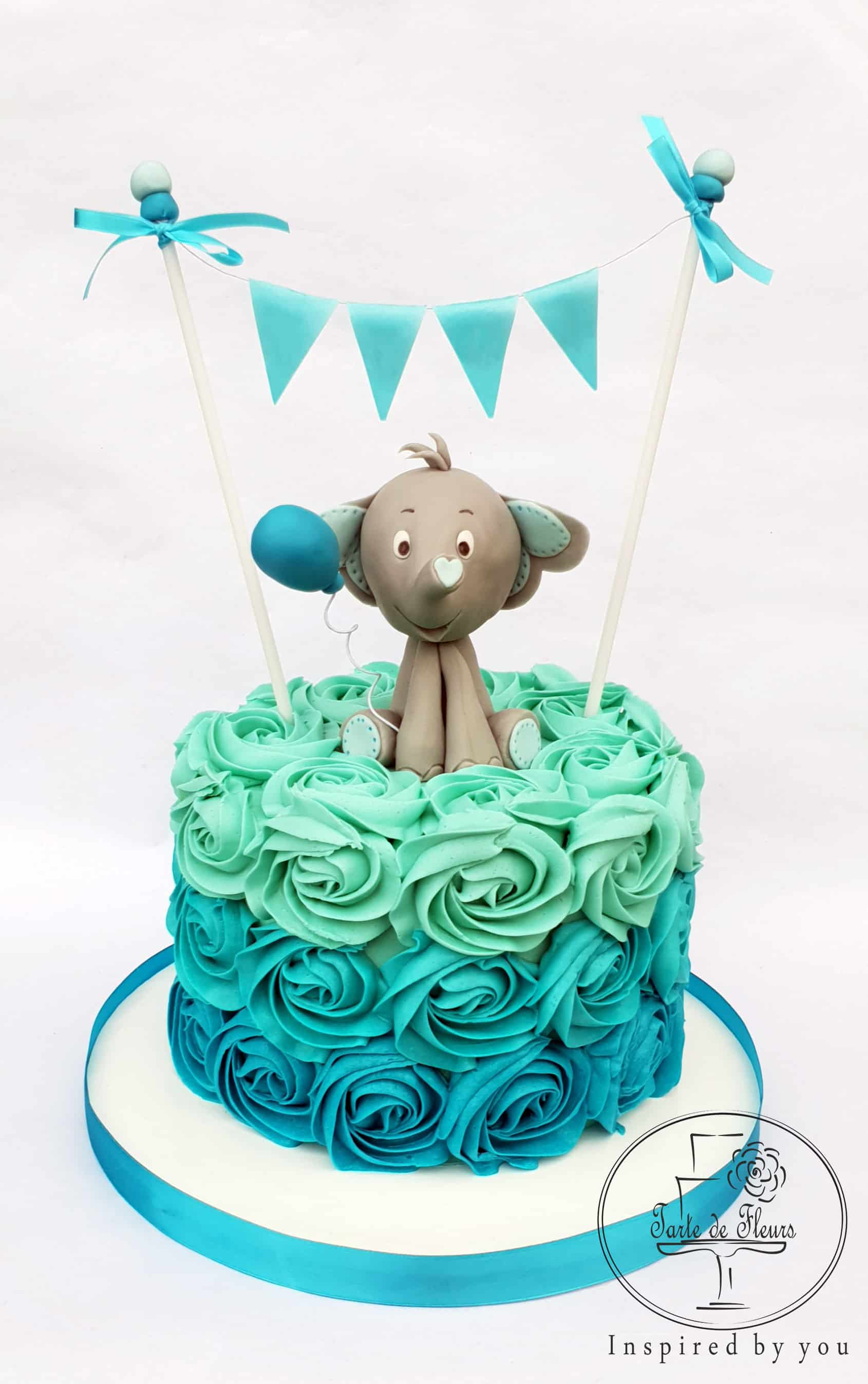 Admirable First Birthday Cake For Boys Order Online Tarte De Fleurs Essex Personalised Birthday Cards Veneteletsinfo