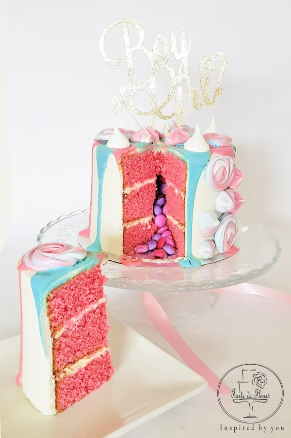Gender Reveal Cake in Pink