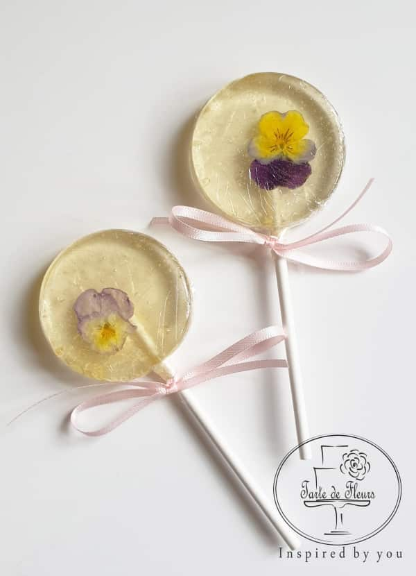 Edible Violas Lollipops