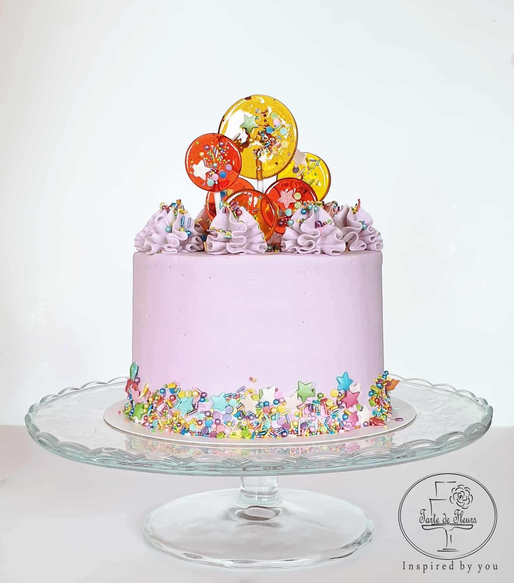 Marvelous Sprinkles Birthday Cake Order Online Tarte De Fleurs Harlow Birthday Cards Printable Inklcafe Filternl