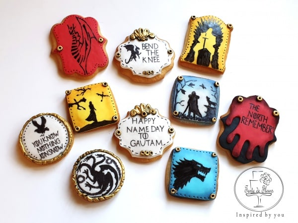 Game of Thrones Birthday Cookies