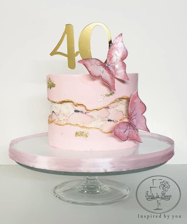 Butterflies Fault Line Cake